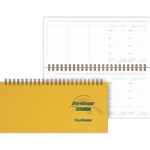 "Healthplanner (tm) Mealplanner - 8.5"" X 4"" Horizontal Planner. 50 Sheets Medical Or Meal-planning, Non-dated Filler Photo"