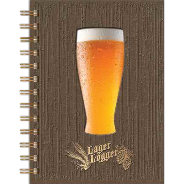 "Lagerlogger (tm) - 5"" X 7"" Journal, 70 Sheets Beer-scoring Filler, Stock Die-cut Window And Insert Photo"