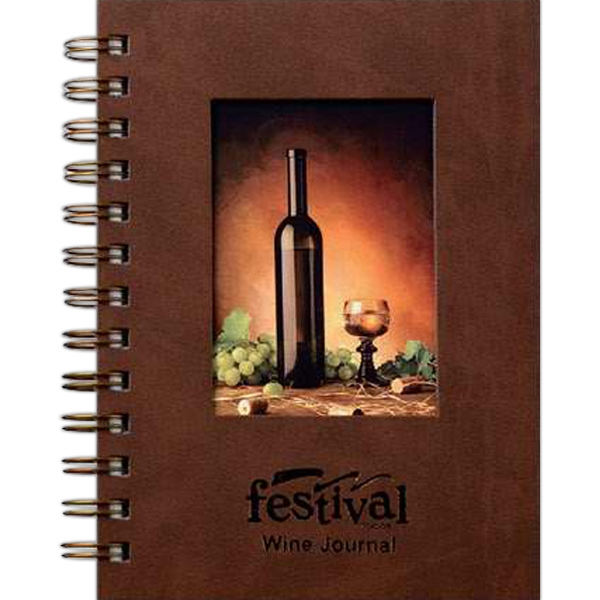 "Winetaster's Journal (tm) - 5"" X 7"" Luxury Windowpad Journal With Info Section Of Wine Facts And 70 Sheets Paper Photo"
