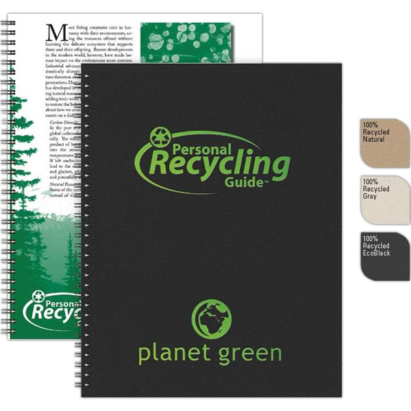 "Recycletips (tm) - 8.5"" X 11"" Large Recycling Guide Made With Recycled Components, 50 Sheets Eco-filler Photo"