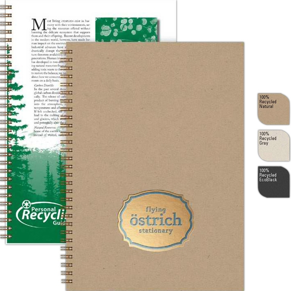 "Recycletips (tm) - 7"" X 10"" Medium Recycling Guide Made With Recycled Components, 50 Sheets Eco-filler Photo"