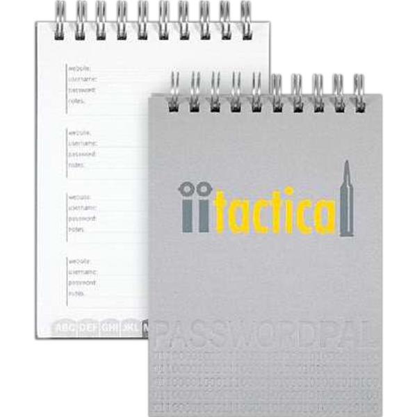 "Bizbooks (tm) Passwordpal - 3.5"" X 5"" Notebook For Keeping Passwords. 50 Sheets Pre-designed Paper Photo"