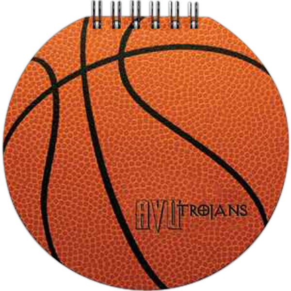 "Sportspad - Basketball-themed Textured Notepad. 60 Sheets Of Blank Paper. 5"" X 5"" Photo"
