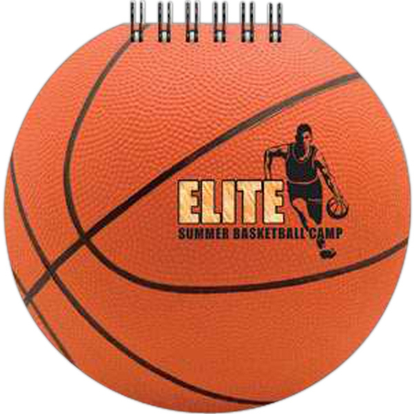 "Sportspad - Basketball-themed Full Color Notepad. 60 Sheets Of Blank Paper. 5"" X 5"" Photo"