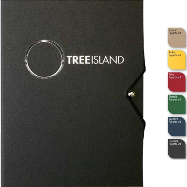 "Ecopostwrap (tm) - 5"" X 7"" Refillable Recycled Wraparound Journal, Post And Elastic Closure, 100 Sheets Photo"