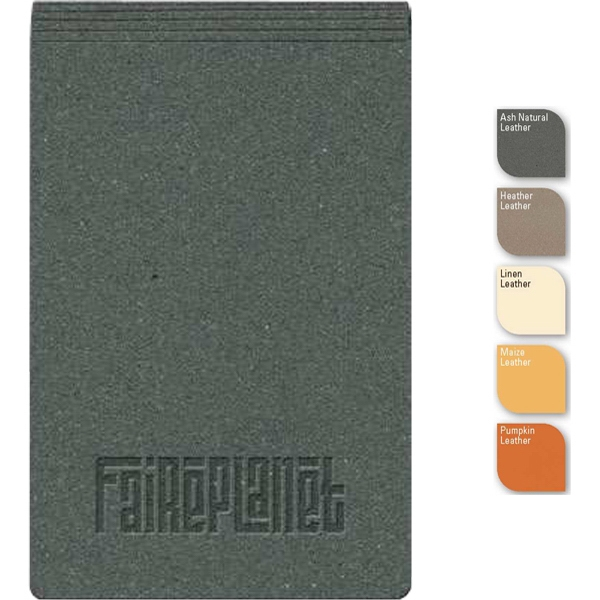 "Soho (tm) - 4"" X 6"" Refillable Leather-bonded Jotter, Post Binding, 100 Sheets Blank Paper Photo"