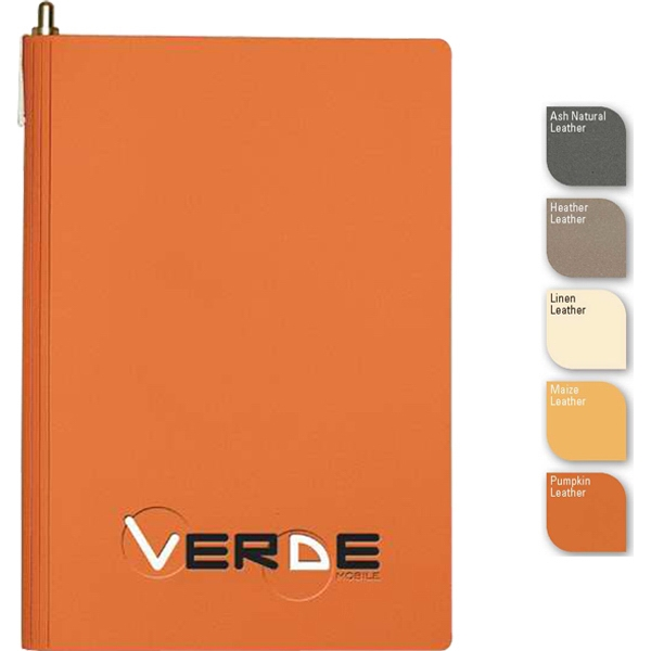 "Soho (tm) - 5.5"" X 8.5"" Refillable Side-bound Bonded Leather Journal, Pen, 100 Sheets Paper Photo"