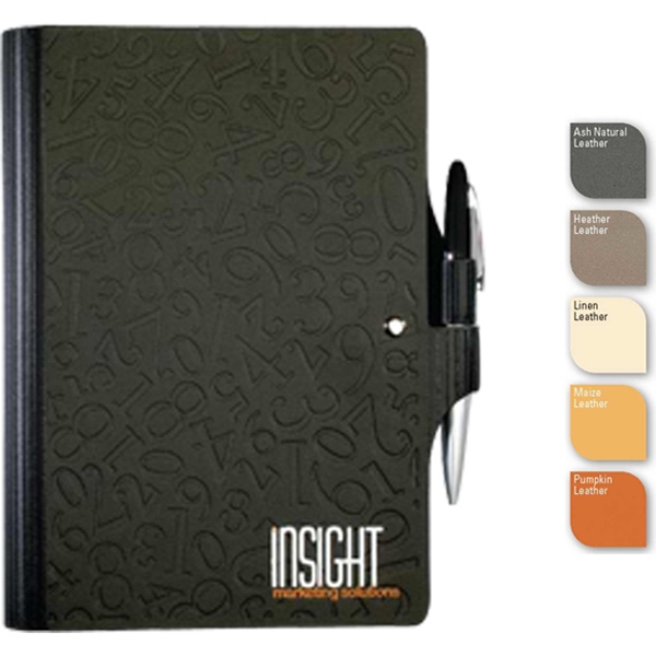 "Leatherwrap (tm) - 5.5"" X 8.5"" Refillable Leatherwrap Journal, Dual Pen Loops, Pen, 100 Sheets Paper Photo"