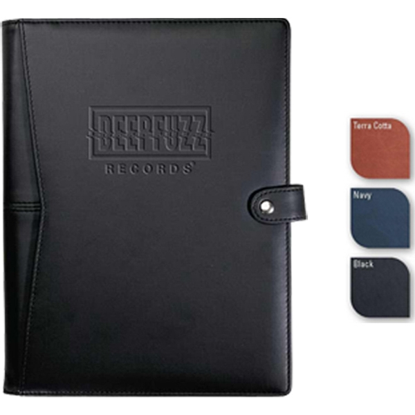 "Pedova Etech (tm) - 7.5"" X 9.5"" High-tech Hybrid Holds Your Digital Device Along With A 70 Sheet Journal Photo"