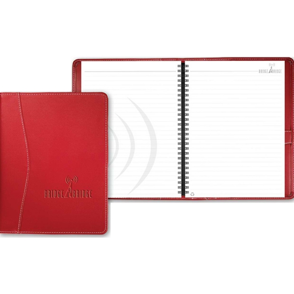 Hampton (tm) - Elegant Refillable 70-sheet Journal, Stitched Ultrahyde Covers, Dual Lock Pen Loop Photo