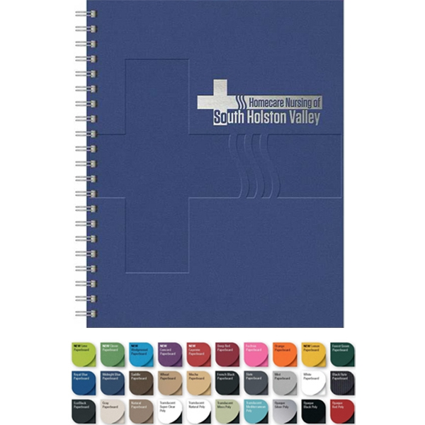 "Large Notebook With 100 Sheets Lined Paper. 8.5"" X 11"" Photo"