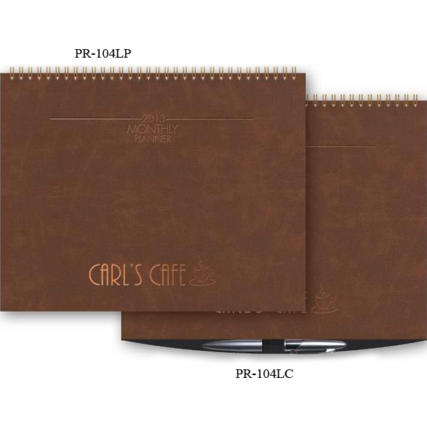 "The President (tm) - 11"" X 8.5"" Leather Front/chip Back President (tm) Horizontal Monthly Planner Photo"