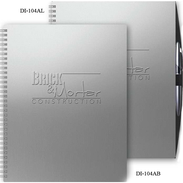 "The Director (tm) - 8.5"" X 11"" Alloy Front/chip Back Director (tm) Vertical Monthly Planner Photo"