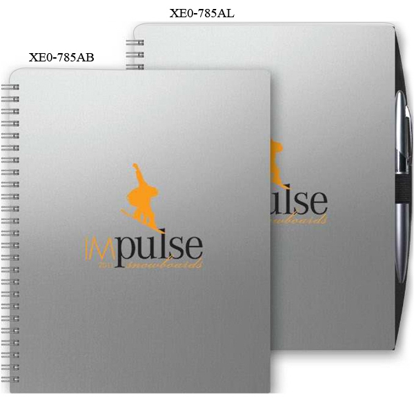 "X Eoplanner (tm) - 7"" X 8.75"" Alloy Front Cover With Chip Back Wire-bound Weekly Planner Photo"
