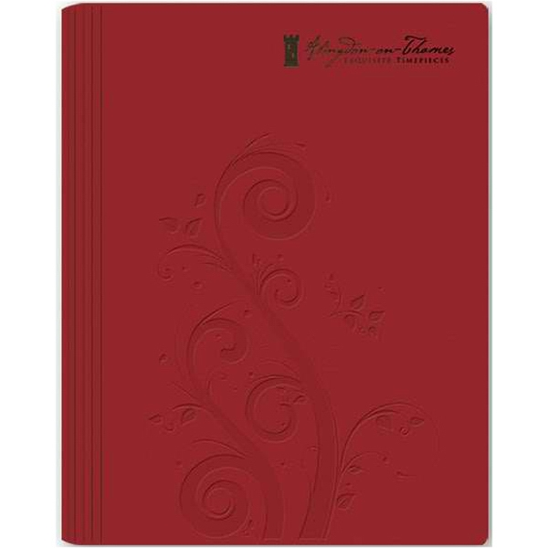 "Leatherwrap Planner (tm) - 7"" X 8.75"" Refillable Weekly Planner With Premium Leather Wraparound Cover Photo"