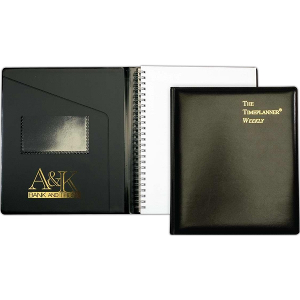 "Leatherwrap Planner (tm) - 7"" X 8.75"" Refillable Weekly Planner, Expanded Vinyl Padfolio, Inner Pocket Photo"