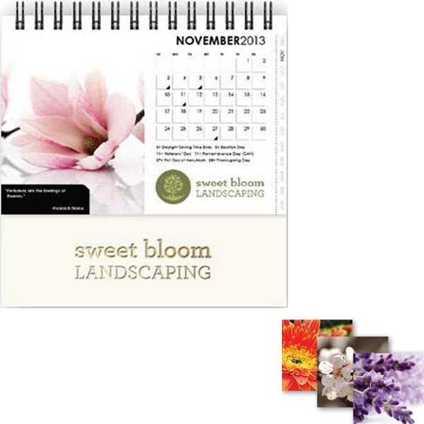 "Desktop Monthly (tm) - 5"" X 3.75"", Full-color, Horizontal Monthly Desktop Calendar Photo"