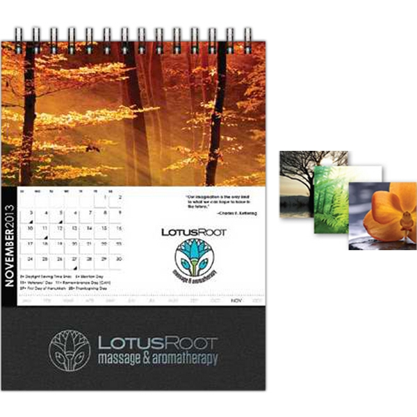 "Desktop Monthly (tm) - 5"" X 5"", Square, Full-color, Square Monthly Desktop Calendar Photo"