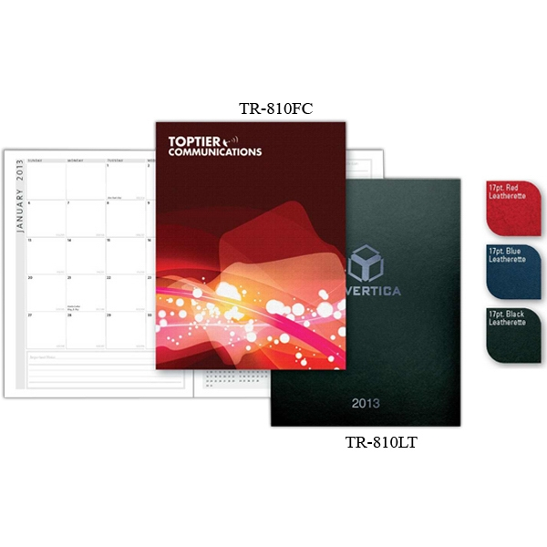 "Traveler & Pocket Secretary (tm) - 8.25"" X 10.75 Lightweight Leatherette Monthly Planner With Saddle-stitched Binding Photo"