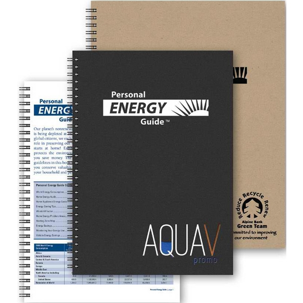 "7"" X 10"" Weekly Organizer Full Of Energy Saving Tips. 100% Recycled Paperboard Cover Photo"