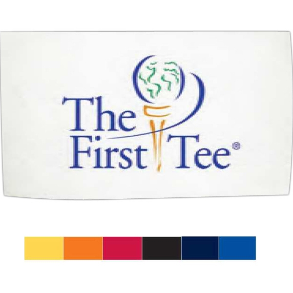 "Turkish Signature (tm) - Embroidery On White Towel - Golf Towel. Caddy Towel, 20"" X 34"" Photo"