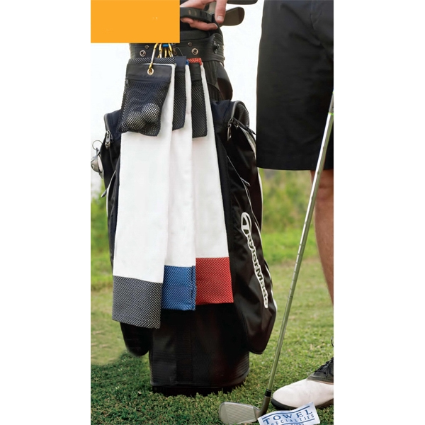 Ultimate Golf Towel Ii (tm) - Blank - Golf Towel, Durable Turkish Cotton Velour With Ditty Bag And Carabiner Clip Photo