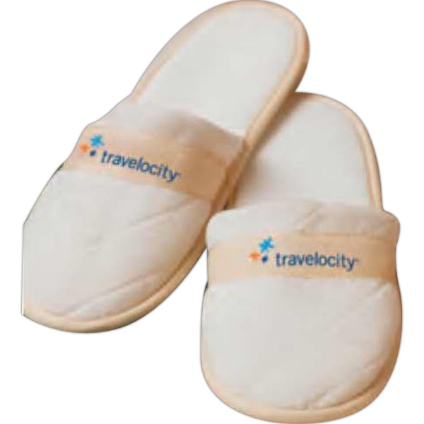 Cabana Bay (tm) - Blank - Slippers With Quilted Velour Design Photo