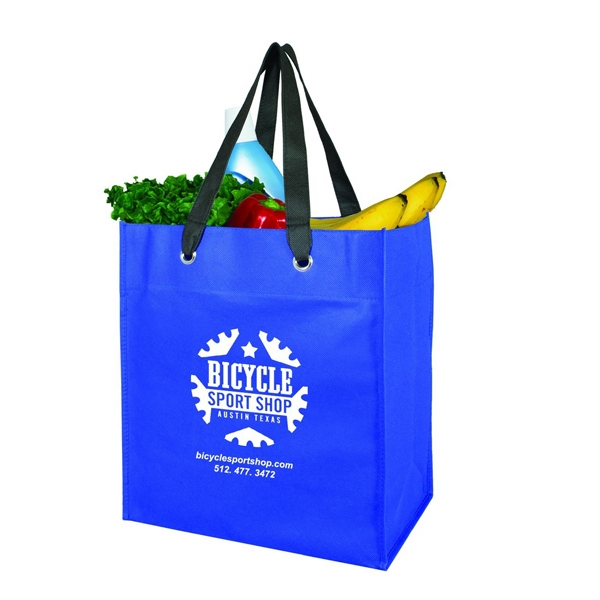 Non Woven Grocery Tote W/Grommets