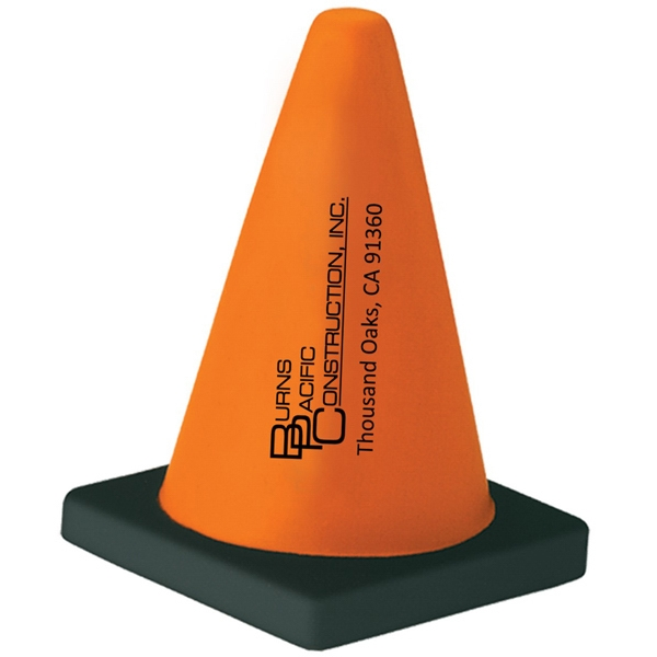 Orange And Black Cone Stress Shape