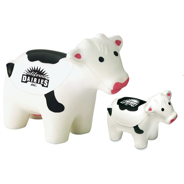 White Cow With Black Spots Stress Shape