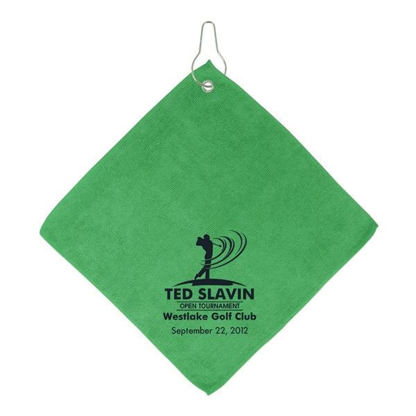 Microfiber Golf Towel W/Hook