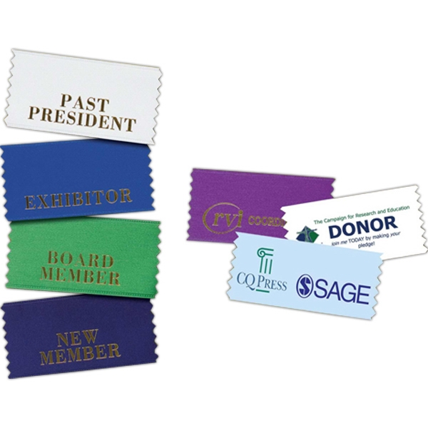 Custom Horizontal Badge Ribbon Photo