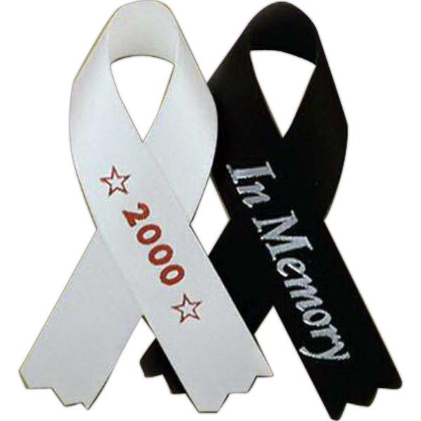 "Tape Attached - Printed Awareness Ribbons, 3 1/2"" (100 Per Bag) Photo"