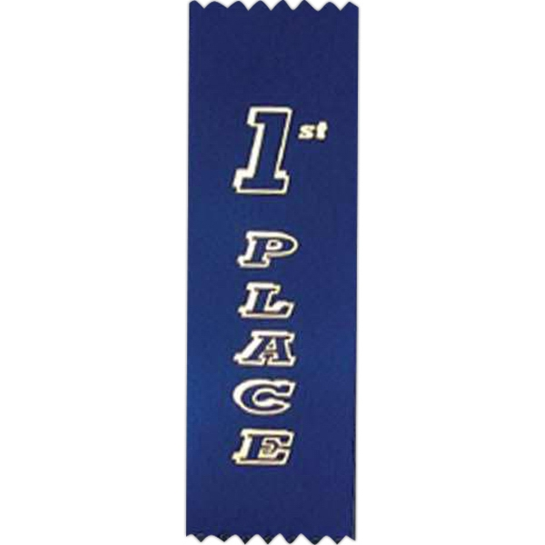 "1st Place - Standard Stock Placing Ribbon. 2"" X 6"" With Pinked Top And Bottom Photo"