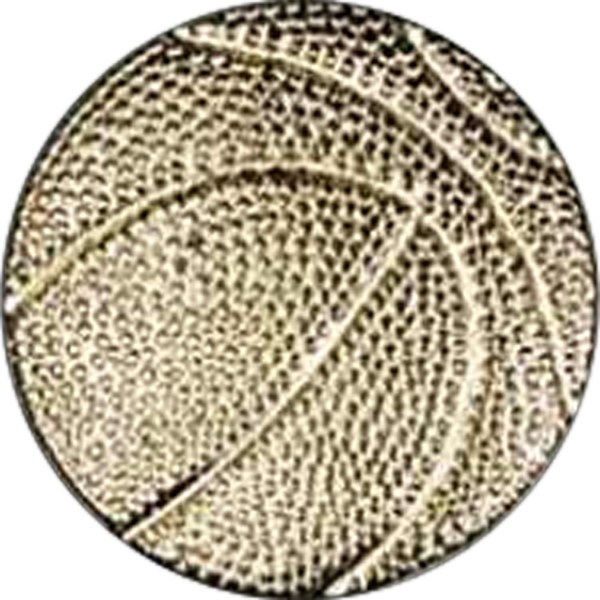 Basketball - Chenille Gold Finish Letter Pin With Clutch Back Attachment Photo