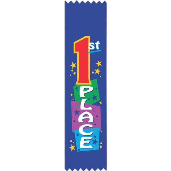 "Award Of Excellence;pinked - Full Color Stock Ribbons, 2"" X 8"" Photo"