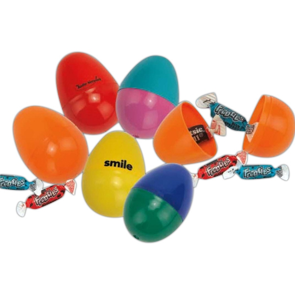 "Economy Candy Filled Plastic Easter Egg, 2 1/2"". Imprinted Photo"