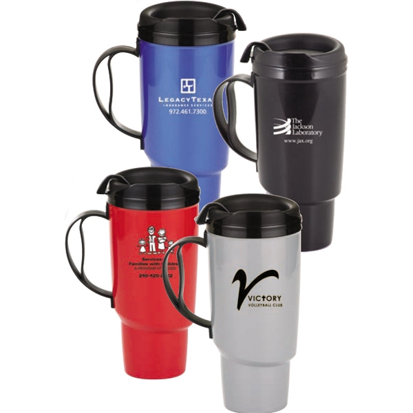 Deluxe - 34 Oz. Double-wall Plus Foam Insulated Travel Mug Photo