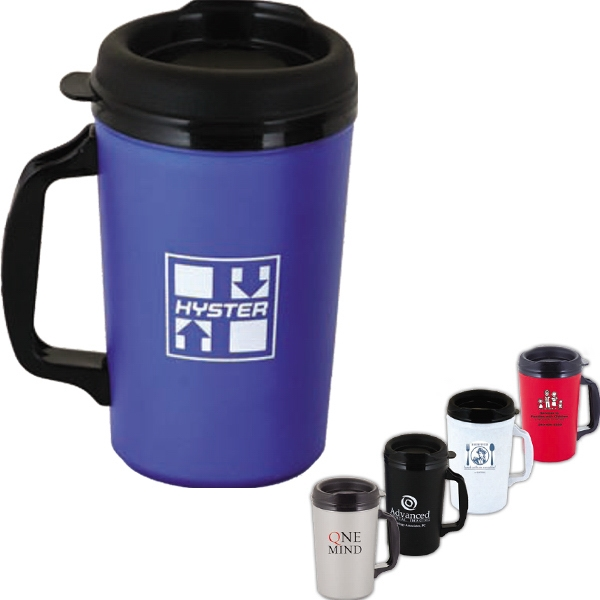 Classic - Double Wall Plus Foam Insulated 20 Oz. Mug With Spill Resistant Lid Photo