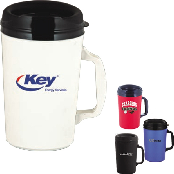 Classic - Double Wall Plus Foam Insulated 34 Oz. Mug With Drink-thru Lid And Ergonomic Handle Photo