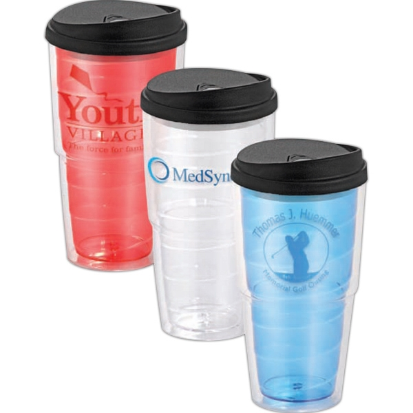 Swirl - 24oz. Tumbler With Slide Closure Lid Photo
