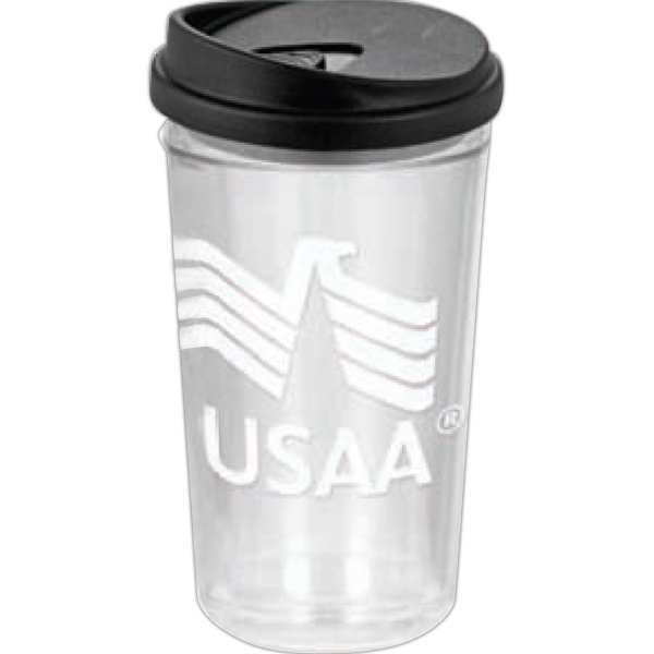 Smooth - 24oz. Clear Tumbler With Lid Orders Are Accepted For Full Case Quantities Only Photo