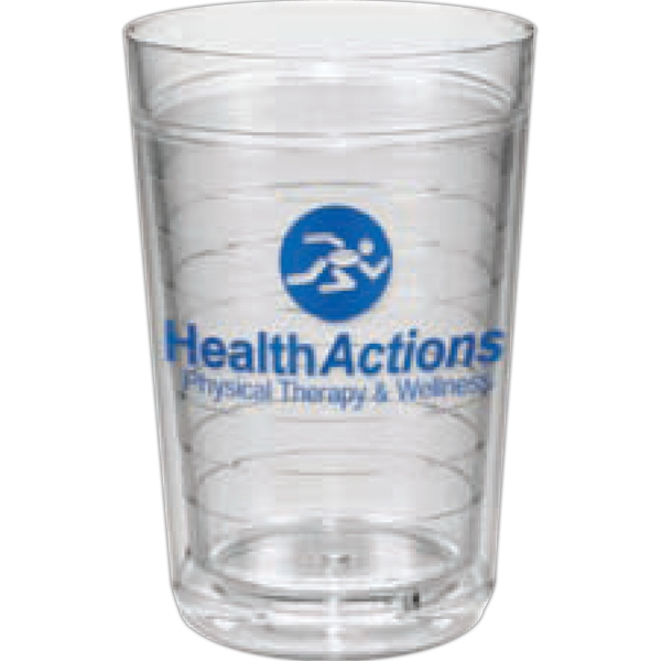 Ring - Clear Tumbler, 16 Oz. With Double-wall Insulation And Virtually Sweat Proof Photo