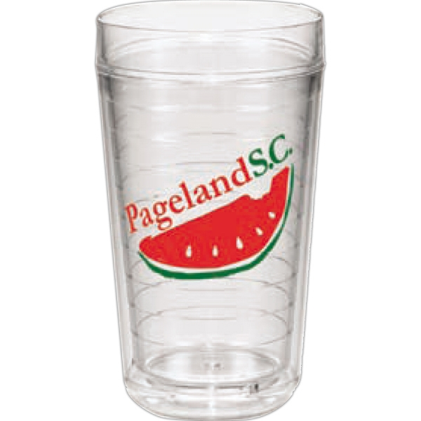 "Ring - Double Wall Insulated 24 Oz. Clear Ring Tumbler, 6.75"" Tall Photo"