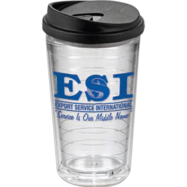Ring - 24oz. Clear Tumbler With Lid Orders Are Accepted For Full Case Quantities Only Photo