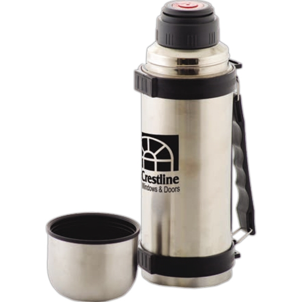 "Magnum - Brushed Stainless Steel Vacuum Insulated 1 Liter Bottle, 12.125"" Tall Photo"