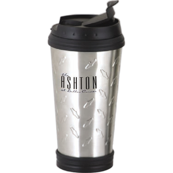 Grid - Stainless Tumbler, 16 Oz., With Spill Resistant Flip-top Lid Photo
