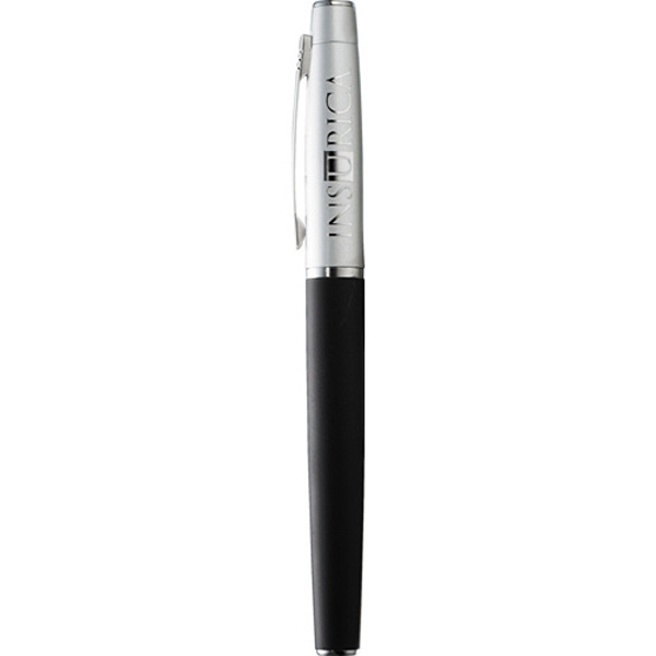 Drake - Roller Ball Pen With Spray Rubber Coat Bottom Barrel And High Gloss Upper Barrel Photo