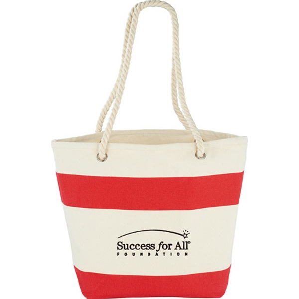 Stripes Cotton Shopper Tote Photo
