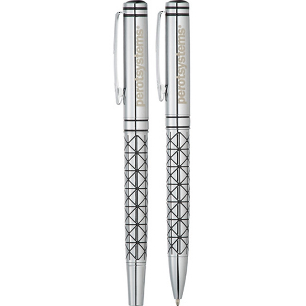 Balmain (r) - Geometric Pen Set Made Of Brass Photo